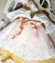 Rochita Cozette din dantela tip chantilly, cu trena, alb-ivoire (0-3-3-6-9-12-12-18 luni)-02